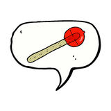 cartoon lollipop with speech bubble Royalty Free Stock Images