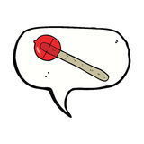 cartoon lollipop with speech bubble Royalty Free Stock Photography
