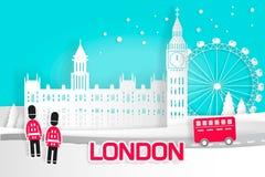 Cartoon london city vector illustration