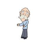 Cartoon lonely old man Stock Photos