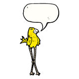 Cartoon long legged bird Stock Images