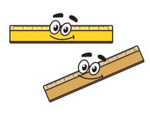 Cartoon long school ruler Stock Image