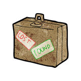 cartoon lost luggage Royalty Free Stock Images