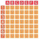 Cartoon lottery field. Vector illustration Stock Photography