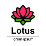 Cartoon lotus logo Royalty Free Stock Photo