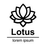Cartoon lotus outline logo Royalty Free Stock Photography