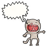 Cartoon loud cat Royalty Free Stock Image