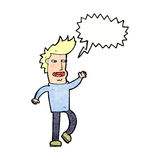 Cartoon loudmouth man with speech bubble Royalty Free Stock Photo