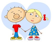 Cartoon love Royalty Free Stock Photo