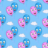 Cartoon Love Balloons Seamless Pattern Royalty Free Stock Image