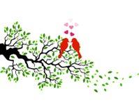 Cartoon Love beard on a tree branch Stock Photography