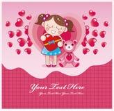 Cartoon love card Royalty Free Stock Photos