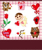 Cartoon love card Royalty Free Stock Images