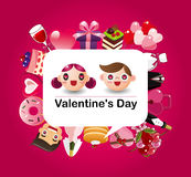 Cartoon love card Stock Images