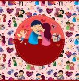 Cartoon love card Stock Photography