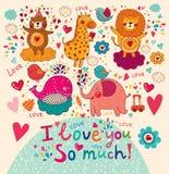 Cartoon love card Royalty Free Stock Photo