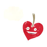 cartoon love heart apple with thought bubble Royalty Free Stock Photo