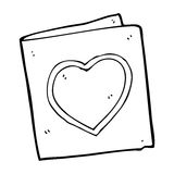 Cartoon love heart card Royalty Free Stock Photos