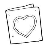 Cartoon love heart card Royalty Free Stock Photos