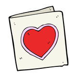 Cartoon love heart card Royalty Free Stock Photo
