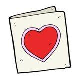 Cartoon love heart card Royalty Free Stock Photo