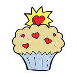 Cartoon love heart cupcake Royalty Free Stock Images