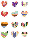 Cartoon love heart icon Royalty Free Stock Photos