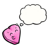 Cartoon love heart with thought bubble Stock Photo