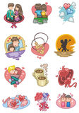 Cartoon love icon. Vector drawing Royalty Free Stock Photos