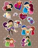 Cartoon love stickers. Vector,illustration Royalty Free Stock Image