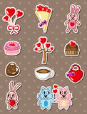 Cartoon love stickers Stock Image