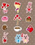 Cartoon love stickers. Vector,illustration Stock Image