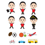 Cartoon lovely    Difference move    Vector illustration Royalty Free Stock Images
