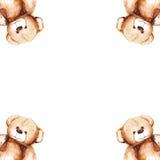 Cartoon lovely Teddy Bear toy Saint Valentine's day frame Stock Photos