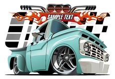 Cartoon Lowrider Royalty Free Stock Photography
