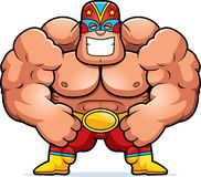 Cartoon Luchador Flexing Royalty Free Stock Photos