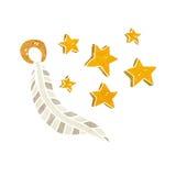 Cartoon lucky charm feather Stock Image