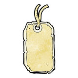 Cartoon luggage tag Royalty Free Stock Images