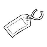Cartoon luggage tag Stock Photo