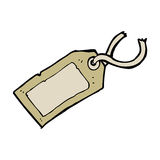 Cartoon luggage tag Stock Photography