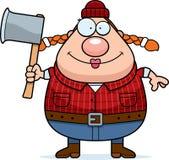 Cartoon Lumberjack Axe Stock Photography