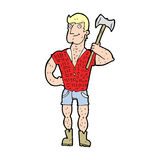 cartoon lumberjack Royalty Free Stock Image