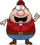 Cartoon Lumberjack Idea Stock Photo