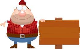 Cartoon Lumberjack Sign Royalty Free Stock Photos