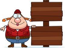 Cartoon Lumberjack Sign Stock Photo