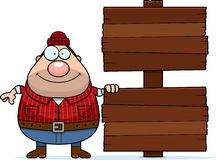 Cartoon Lumberjack Sign Royalty Free Stock Photography