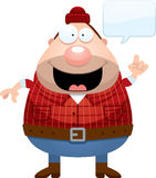 Cartoon Lumberjack Talking Royalty Free Stock Images