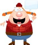 Cartoon Lumberjack Talking Stock Images