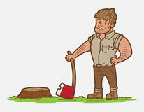 Cartoon Lumberjack Stock Image
