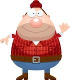 Cartoon Lumberjack Waving Stock Photography